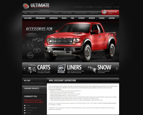 Ultimate Truck Accessories - Web Development Home