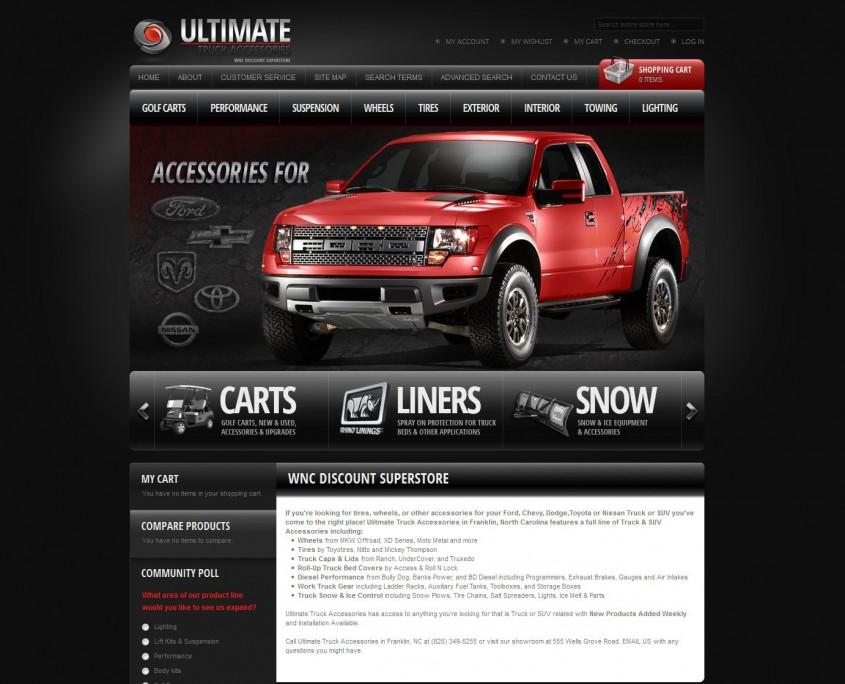Ultimate Truck Accessories - Web Development Home