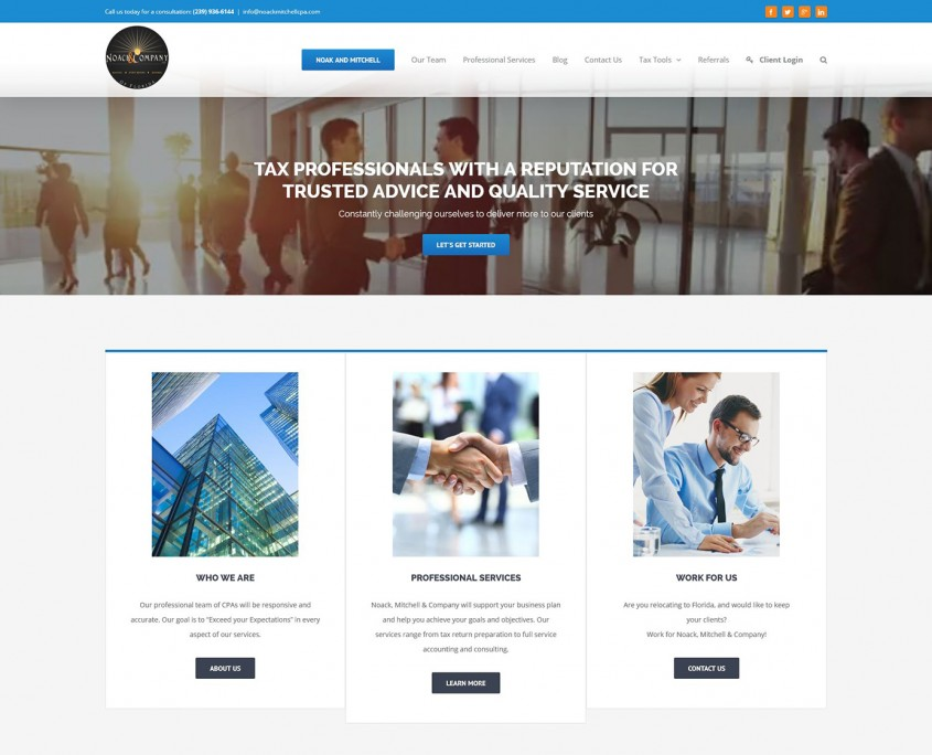 Noak and Mitchell CPA - Developed by SiteDart Studio Business Web Development and Design Western North Carolina