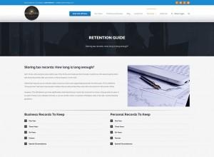 CPA Tax preparer website Developed by SiteDart Studio Business Web Development and Design Western North Carolina